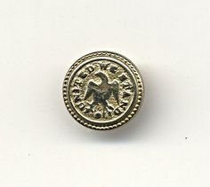 """Small Vintage Golden Age Button Featuring Eagle & Phrase, """"United We Stand"""""""