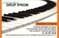 . Especialistas en transporte de pianos:  con más de 20años de experiencia en la delicada labor del traslado de pianos y otros objetos pesados y delicados, en mudanzas barcelona iprom ponemos especial énfasis en el transporte de pianos, poniendo los medio