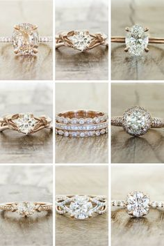 Rose Gold Engagement Rings by Ken & Dana Design.