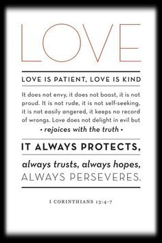 <3<3<3 1 Corinthians 13:4-7 <3<3<3