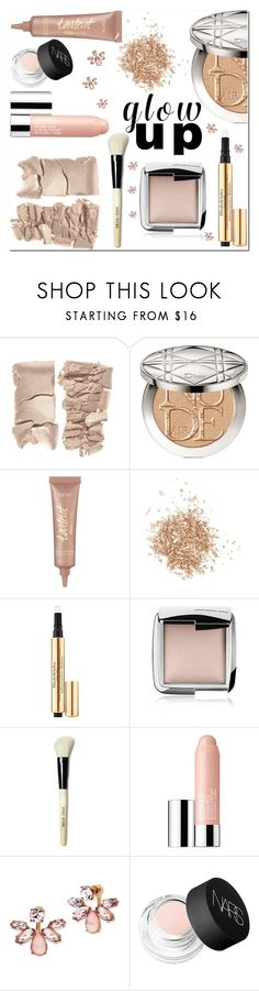 """""""Glow up glam"""" by lynksmichelle ❤ liked on Polyvore featuring beauty, Christian Dior, tarte, Topshop, Elizabeth Arden, Hourglass Cosmetics, Bobbi Brown Cosmetics, Clinique, Marchesa and NARS Cosmetics"""