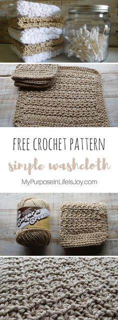 This Crochet Washcloth pattern is a simple and quick way to make homemade household items. A set of washcloths would make a perfect, thoughtful gift. #crochet #crochetpattern #freecrochetpattern #crochetwashcloth #washcloth