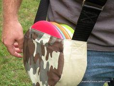 canvas disc golf bag