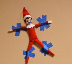 Best Elf on a Shelf idea!