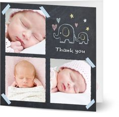 Baby Girl Thank You Cards $1.19 www.mamadoo.com.au #mamadoo #personalisedcards #thankyoucards