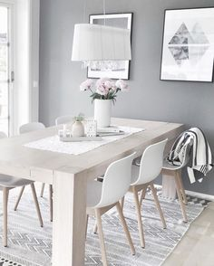 Scandinavian Dining Room Design: Ideas & Inspiration - Di Home Design Scandinavian Interior Design, Scandinavian Living, Scandinavian Christmas, Nordic Living Room, Nordic Design, Sweet Home, Dining Room Design, Dining Rooms, Dining Area