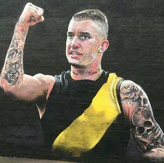 Dustin Martin mural, Rowena Parade, Richmond Richmond Afl, Richmond Football Club, Movie, Stems, Film, Cinema, Films