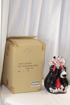 Treasure Craft 101 Dalmatian Disney Cookie Jar Cruella DeVille & Puppies