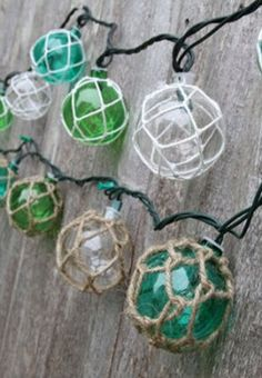 Amazon.com: Nautical Retro Glass-Style Buoy Float Plastic String Lights-Assorted Styles: Home & Kitchen