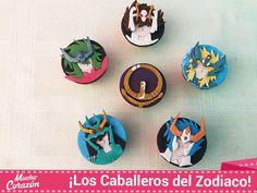 ¡Íncreíbles cupcakes de los Caballeros del Zodiaco! Saint Seya :D #MuchoCorazón #ReposteríaCasera