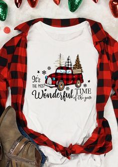 Its The Most Wonderful Time T-Shirt. Spend your Christmas in comfort and style in this cute and fun tee. Wear this wonderful Christmas Tree tee and enjoy happiness with your family. High-quality and flash shipping! Big Discount and Limited Time ONLY! Home T Shirts, Vinyl Shirts, Fall Shirts, Xmas Shirts, Winter Shirts, Custom Shirts, Christmas Style, Cute Christmas Shirts, Christmas Clothes