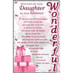 Birth Day QUOTATION Image Quotes About Birthday Description Free Spiritual Cards Daughter