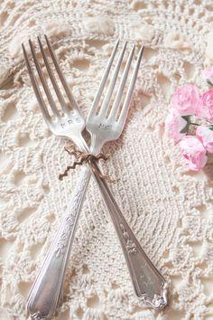 Mr & Mrs Vintage Fork Set by lovelydayshop on Etsy wedding or anniversary