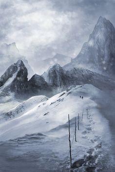 ArtStation - snow_covered_mountain, Tomoya Ishikawa