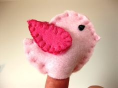 Baby Bird Finger Puppet Party Favors by QueenBeeInspirations