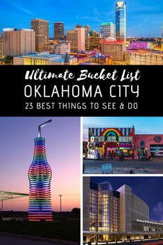 Oklahoma City is surprisingly filled with many fun and exciting things to see and do, enough to fill up your travel itinerary for at least a few days. Here are 23 best things to add to your Oklahoma City bucket list! Tulsa Oklahoma, Travel Oklahoma, Oklahoma State University, Norman Oklahoma, Oklahoma Quotes, Lawton Oklahoma, Oklahoma Sooners, Oaklahoma City, Oklahoma City Things To Do