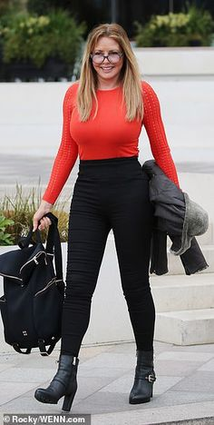 Carol Vorderman shows off extraordinary new curves in skintight high-waisted trousers Sexy Older Women, Sexy Women, Carol Vordeman, Sexy Outfits, Fashion Outfits, Botas Sexy, Tv Presenters, Skin Tight, Beautiful Women