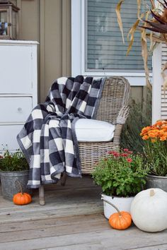 Vintage Cottage Fall Porch Decorating Ideas with Better Homes & Gardens. #BHGLIveBetter #sponsored pin