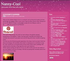 http://www.nannycool.com Come on over and have a read of my blog x
