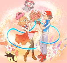 Pokémon XYZ anime ash and Serena amourshipping