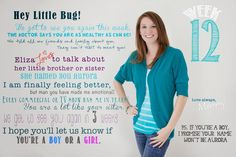 Letters To My Love Bug. Monthly letters while pregnant. 12 weeks pregnant