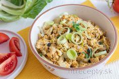 Low carb recepty s nízkym obsahom sacharidov Clean Recipes, Diet Recipes, Fried Rice, Pasta Salad, Tofu, Low Carb, Keto, Meals, Vegan