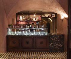 Cucina Torcicoda in Florence,Ice cream parlour detail, project by Luigi Fragola Architects #LuigiFragola #DesignRestaurant #icecreamparlour #CucinaTorcicoda