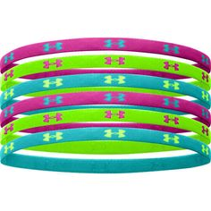 c8c980bde20 Under Armour Mini Headbands - Purple Lime Teal Under Armour Outfits