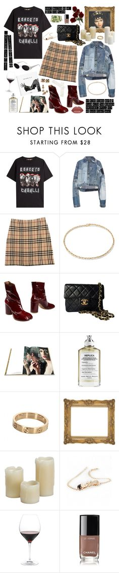"""Show Off"" by lilslipknot ❤ liked on Polyvore featuring Roberto Cavalli, Giamba, Burberry, Suzanne Kalan, Maison Margiela, Chanel, Assouline Publishing, KDIA, Inglow and Nordstrom"