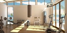 Unbelievable Exercise Home Gym Room You Need to Have at .- Unbelievable Exercise Home Gym Room You Need to Have at Home Unbelievable Exercise Home Gym Room You Need to Have at Home - Dream Home Gym, Gym Room At Home, Dream Homes, Basement Gym, Garage Gym, Garage House, Home Gym Design, House Design, Modern House Interior Design