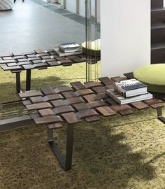 Wooden #bench BELT Logos Collection by Porada | #design Tarcisio Colzani