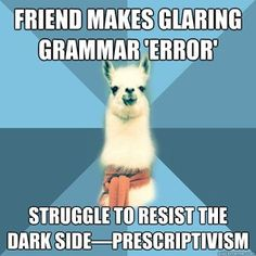 Linguist Llama meme   quickmeme