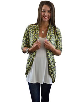 Grey Skies Pocket Cardigan – The ZigZag Stripe - Save 10% with code ZZS9 #ilovezigzag #affordable #boutique