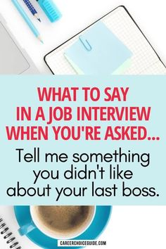 "How to answer difficult interview questions like, ""Tell me something you didn't like about your last boss."" Negative job interview questions can really trip you up, but when you learn this simple strategy, you can use these questions to show you're a reliable employee with strong problem-solving skills. #jobinterview #jobinterviewquestions #careerchoiceguide"