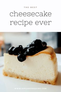 This creamy New York style cheesecake is the best cheesecake ever. It will surely impress your holiday guests and have everyone asking you for the recipe! Sugar Free Desserts, Desserts To Make, Holiday Desserts, Holiday Recipes, Food To Make, Best Cheesecake, Cheesecake Recipes, Dessert Recipes, Cupcake Cookies