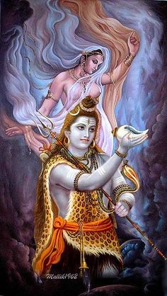 "Shiva is known as ""The Destroyer"" within the Trimurti, the Hindu trinity that includes Brahma and Vishnu Shiva Slokas, Shiva Parvati Images, Shiva Art, Krishna Art, Lord Ganesha Paintings, Lord Shiva Painting, Krishna Painting, Saraswati Goddess, Kali Goddess"