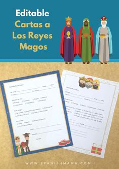 Free printable Cartas a Los Reyes Magos. These are also editable, and include several versions for different ages, as well as a non-religious option. Christmas Board Games, Christmas Books For Kids, Christmas Poems, Christmas Activities, A Christmas Story, Christmas Humor, New Years Activities, Spanish Activities, Book Activities