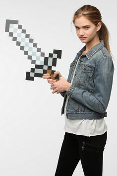 #UrbanOutfitters          #Apparment #Games         #minecraft #measurements #wipe #videogame #content #sword #adventure #clean #construction #lightweight #foam #super               Minecraft Sword           Overview:* Adventure mode* Sword inspired by the videogame Minecraft* Super lightweight foam construction Measurements:* 12.25l, .5w, 24.25h Content & Care:* Foam* Wipe clean* Imported                        http://pin.seapai.com/UrbanOutfitters/Apparment/Games/6540/buy
