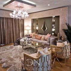 Luxurious Living Room Design #charlesneal #interiordesign