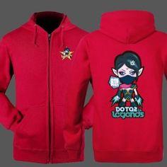 Dota 2 herói hoodie para homens Plus Size Mortred zip manga longa