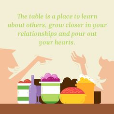 The #table is #placed to #learn about #others, #grow #closer in your #relationships and #pour out your #hearts.