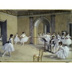 The Dance Foyer at the Opera on the Rue Le Peletier 1872 Edgar Degas (1834-1917 French) Musee d Orsay Paris France Canvas Art - (24 x 36)