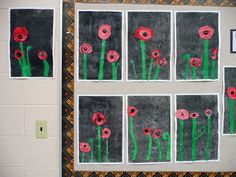 that artist woman: Poppy Mixed Media Remembrance Day Art, 3rd Grade Art, Grade 3, Kids Watercolor, Arts Ed, Mixed Media Collage, Veterans Day, 4 Kids, Teaching Art