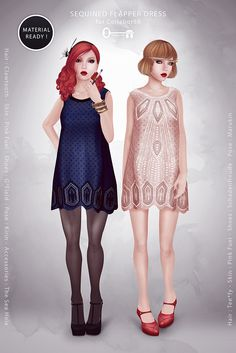 The Secret Store Sequin Flapper Dress - Demo available - 7 recolors of 2 versions available - 188L each - 1200L for fatpack
