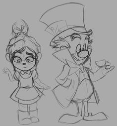 Vanellope and King Candy dressed as Alice and the Mad Hatter. Cute, as Candy totally sounds like Hatter.