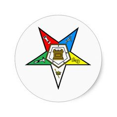 oes_chapter_clear round stickers