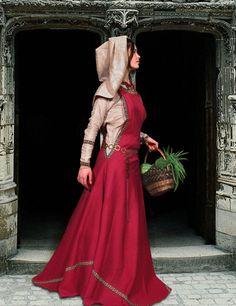 "Sca Garb | TOWNSWOMAN"" DRESS TUNIC GARB MEDIEVAL COSTUME SCA LARP"