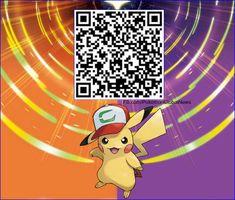 Pikachu Cap QR Code for Pokémon Ultra Sun & Ultra Moon.