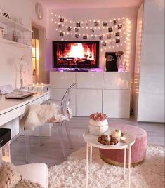 home decor bedroom design Girl Bedroom Designs, Room Ideas Bedroom, Home Decor Bedroom, Interior Livingroom, Rich Girl Bedroom, Ikea Interior, Glam Bedroom, Pretty Bedroom, Bed Designs