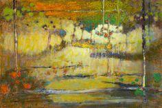 R Stevens, Sun Showers, Oil on Canvas, 32″ x 48″ #abstractart #santafe